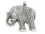 Elephant - Pewter Pendant 57mm (PW834)