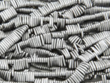 Silver Electroplated Hematite Button Gemstone Beads 6mm (GS3824)