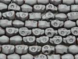 Silver Hematite Skull Gemstone Beads 10mm (GS3835)