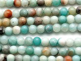Black Gold Amazonite Round Gemstone Beads 6mm (GS3840)
