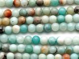 Black Gold Amazonite Round Gemstone Beads 6mm (GS3840)