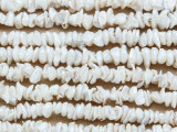 Ivory Irregular Disc Pearl Beads 5-6mm (PRL183)