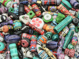 Painted Ceramic Beads - Peru (CER81) BUY ONE, GET ONE FREE