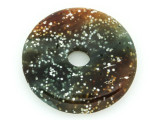 Speckled Agate Donut Gemstone Pendant 40mm (GSP1305)