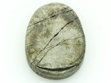 Iron Pyrite Oval Gemstone Pendant 30mm (GSP1307)