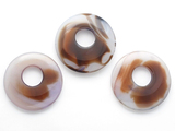 Light Purple Agate Round Gemstone Pendant 46-50mm (GSP1439)