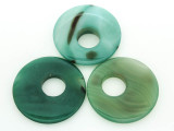 Green Agate Round Gemstone Pendant 46-50mm (GSP1442)