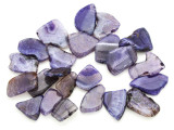 Purple Agate Slab Gemstone Beads 29-48mm (AS797)