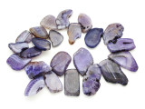Purple Agate Slab Gemstone Beads 31-51mm (AS798)