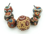 Assorted Ceramic Warring States Focal Beads - Indonesia (CB528)