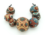 Assorted Ceramic Warring States Focal Beads - Indonesia (CB531)