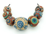 Assorted Ceramic Warring States Focal Beads - Indonesia (CB537)