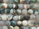 Matte Moss Agate Round Gemstone Beads 8mm (GS3972)