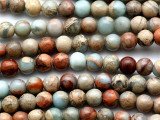 Aqua Terra Jasper Round Gemstone Beads 6mm (GS3984)