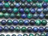 Azurite Round Gemstone Beads 6mm (GS3986)