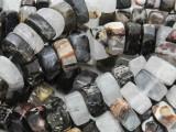 Assorted Quartz & Jasper Triangular Gemstone Beads 12mm (GS4018)