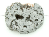 Silver Electroplated Druzy Agate Pendant 41mm (GSP1523)