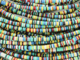 Assorted Vinyl Disc Beads 3mm (VY221)