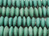 Teal Green Saucer Sandcast Glass Beads 12-17mm (SC969)