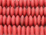 Red Saucer Sandcast Glass Beads 12-17mm (SC971)