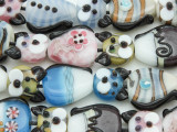 Cat Lampwork Glass Beads 30mm (LW1575)