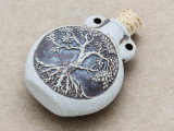Tree of Life Ceramic Cork Bottle Pendant 44mm (AP1879)