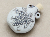 Grape Bunch Ceramic Cork Bottle Pendant 44mm (AP1881)