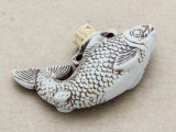Koi Fish Ceramic Cork Bottle Pendant 55mm (AP1884)