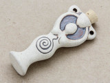 Spiral Goddess Ceramic Cork Bottle Pendant 60mm (AP1888)
