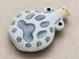Paw Prints Ceramic Cork Bottle Pendant 44mm (AP1892)