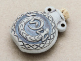 Spiral Gecko Ceramic Cork Bottle Pendant 44mm (AP1895)