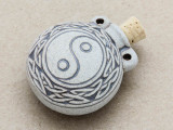 Yin Yang Ceramic Cork Bottle Pendant 38mm (AP1896)
