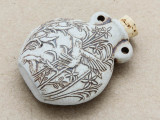 Hummingbirds Ceramic Cork Bottle Pendant 44mm (AP1898)