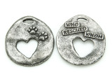 Who Rescued Whom - Pewter Pendant 32mm (PW867)