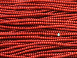 Red White Heart Trade Beads 2mm - Africa (AT7192)
