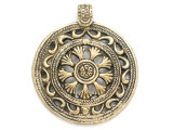 Tibetan Brass Pendant 65mm (TB288)