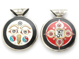 Buddha Eyes Tibetan Pendant 40mm (TB422)