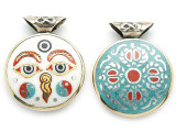 Buddha Eyes Tibetan Pendant 32mm (TB423)