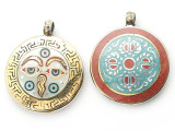 Buddha Eyes Tibetan Pendant 43mm (TB364)