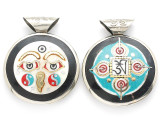 Buddha Eyes Tibetan Pendant 40mm (TB420)