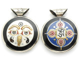 Buddha Eyes Tibetan Pendant 40mm (TB421)