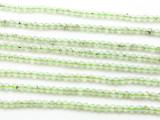 Prehnite Faceted Round Gemstone Beads 3.5mm (GS4020)