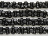 Black Agate Barbell Gemstone Beads 10mm (GS4046)