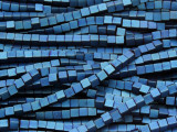 Blue Electroplated Hematite Cube Gemstone Beads 2-3mm (GS4072)