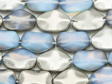 Silver Electroplated Opalite Oval Tabular Gemstone Beads 18-20mm (GS4091)