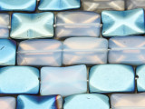 Blue Electroplated Opalite Rectangle Tabular Gemstone Beads 19mm (GS4094)