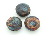 Celtic Knots Raku Ceramic Bead 22mm - Peru (CER137)