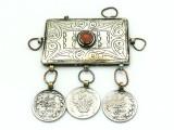 Afghan Tribal Silver Pendant - Amulet 98mm (AF513)