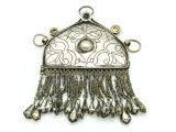 Afghan Tribal Silver Pendant - Amulet 101mm (AF514)
