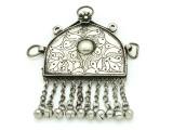 Afghan Tribal Silver Pendant - Amulet 100mm (AF516)